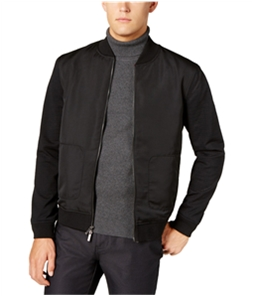Ryan Seacrest Mens Mixed-Media Bomber Jacket