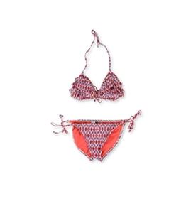 Kenneth Cole Womens Triangle Cora Side Tie 2 Piece Bikini
