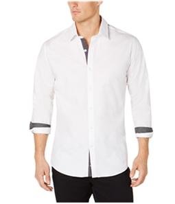 Ryan Seacrest Mens Contrast Trim Button Up Shirt