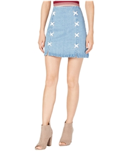 Sage The Label Womens Lace-Up Mini Skirt