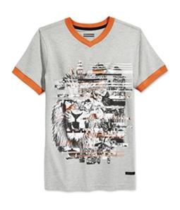 Sean John Boys Lion Striped Graphic T-Shirt