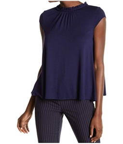 Tommy Hilfiger Womens Solid Cap Sleeve Pullover Blouse