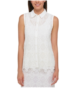Tommy Hilfiger Womens Lace Button Up Shirt