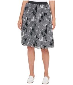 Tommy Hilfiger Womens Pleated Chiffon A-line Skirt