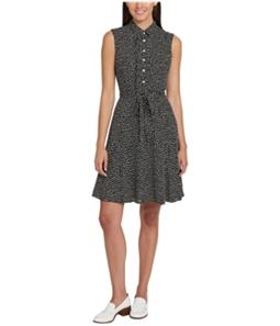 Tommy Hilfiger Womens Ruffled Shirt Dress
