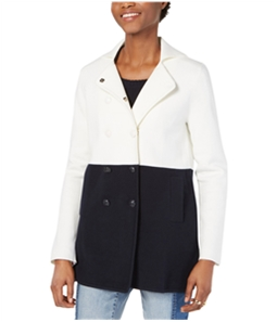 Tommy Hilfiger Womens Colorblocked Pea Coat