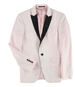 bar III Mens Linen Dinner One Button Blazer Jacket