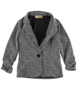 Hybrid Womens Marled One Button Blazer Jacket