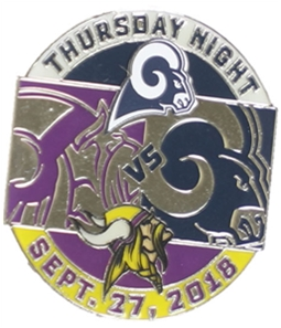WinCraft Unisex Rams Vs Vikings Pins Brooch Souvenir