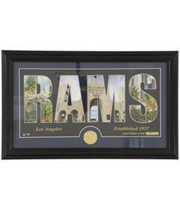 Highland Mint Unisex LA Rams Word Art Framed Photo Souvenir