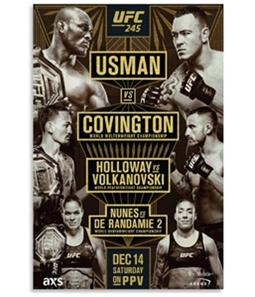 UFC Unisex 245 Dec 14th Saturday Official Poster
