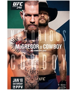 UFC Unisex 246 Jan 18th Saturday Official Poster