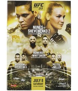 UFC Unisex 213 & Redemption Finale Official Program