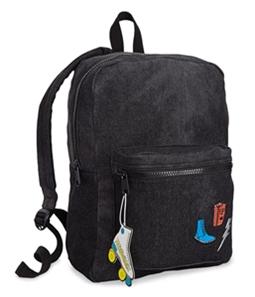 twelveNYC Girls Patch Denim Standard Backpack