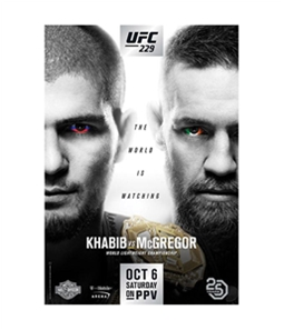 UFC Unisex 229 Oct 6 Saturday Official Poster