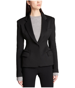 DKNY Womens Exaggerated-Fit One Button Blazer Jacket