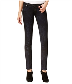 GUESS Womens Floral Skinny Fit Jeans
