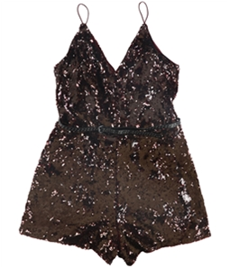 GUESS Womens Sequined Romper Jumpsuit