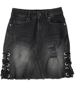 GUESS Womens Punk Metallic Mini Skirt