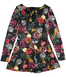 GUESS Womens Floral Print Romper Jumpsuit