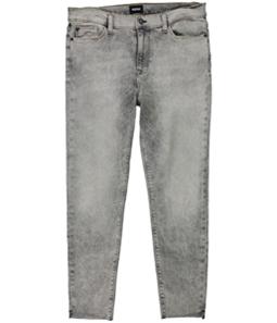 Hudson Womens Ripped Raw Hem Skinny Fit Jeans
