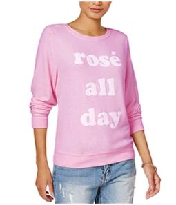 Dream Scene Womens Cotton Rose All Day Sweatshirt