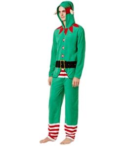Bioworld Mens Santa Helper Bodysuit Jumpsuit Pajama