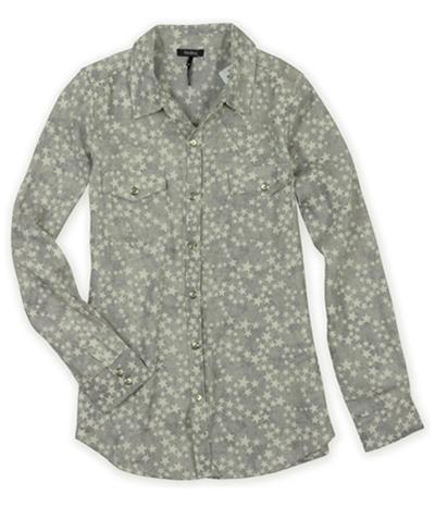 Nollie Mens Star Pattern Button Up Shirt