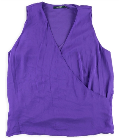 Ralph Lauren Womens Surplice Pullover Blouse