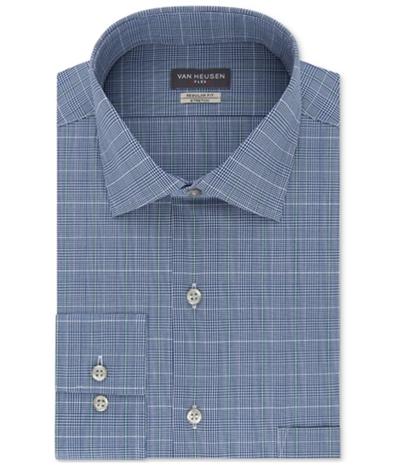 Van Heusen Mens Checkered Button Up Dress Shirt