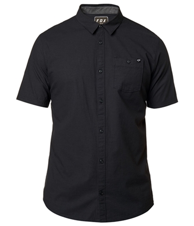Fox Mens Chambray Stretch Button Up Shirt
