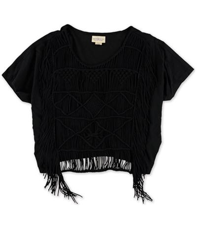 Ralph Lauren Womens Fringe Pullover Blouse