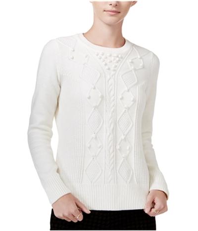 Maison Jules Womens Popcorn Knit Sweater