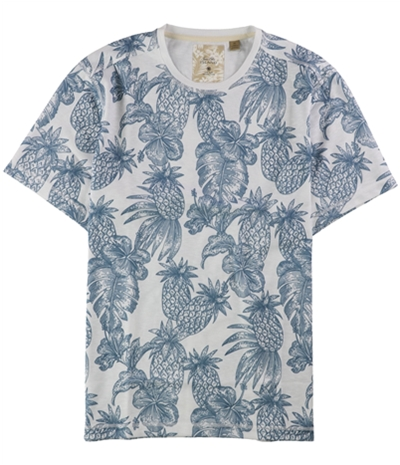 Tasso Elba Mens Island Pineapple Print Graphic T-Shirt