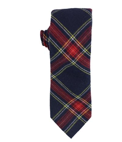 Bar Iii Mens Adams Plaid Self-Tied Necktie