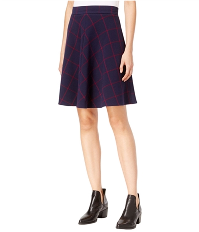 Maison Jules Womens Window Pane A-Line Skirt