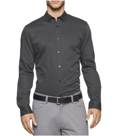 Calvin Klein Mens Crepe Twill Button Up Shirt