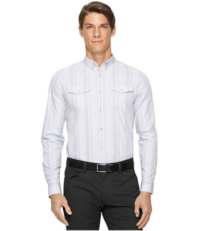 Calvin Klein Mens Gingham Slim Fit Button Up Shirt