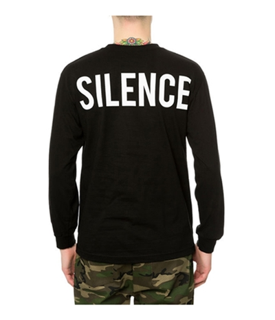 Black Scale Mens The Moment Of Silence Ls Graphic T-Shirt