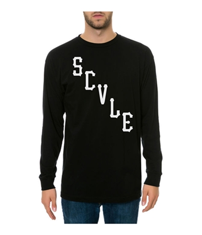 Black Scale Mens The Scvle Logo Ls Graphic T-Shirt
