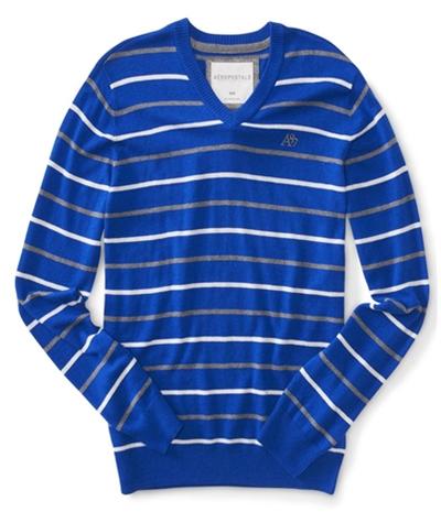 Aeropostale Mens Stripe A87 Knit Sweater