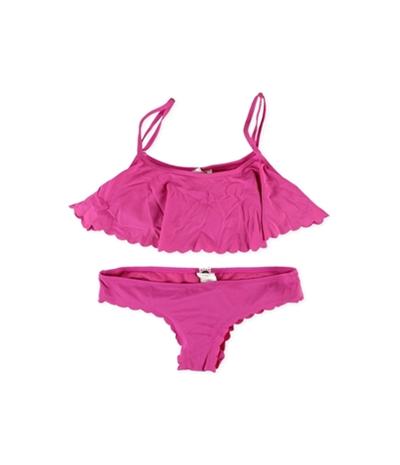 Roxy Womens Crop Scalloped Cheeky 2 Piece Bikini