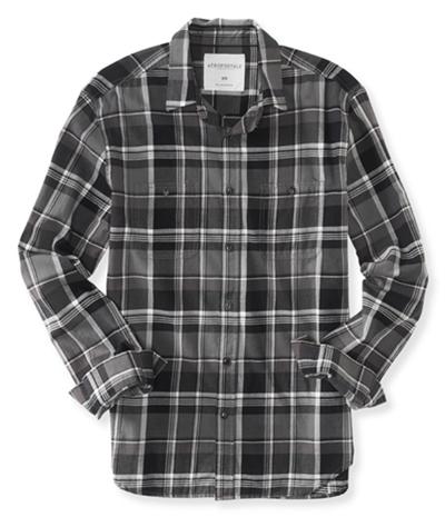 Aeropostale Mens Check Pocket Button Up Shirt