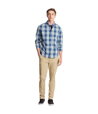 Aeropostale Mens Preppy Plaid Button Up Shirt