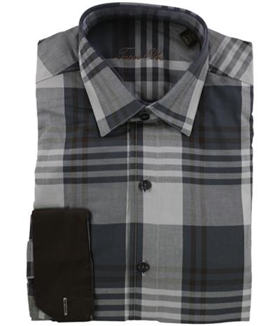 Tasso Elba Mens Plaid Ls Button Up Shirt