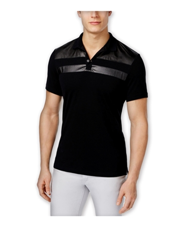 I-N-C Mens Parabola Rugby Polo Shirt
