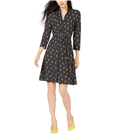 French Connection Womens Aventine Fit & Flare Dress