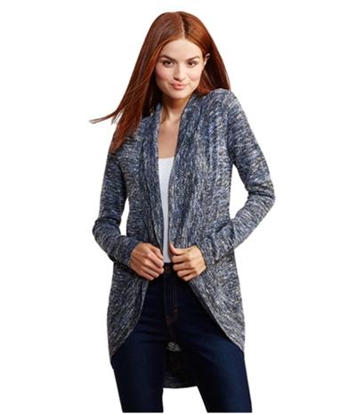 Aeropostale Womens Marled Open Cardigan Sweater
