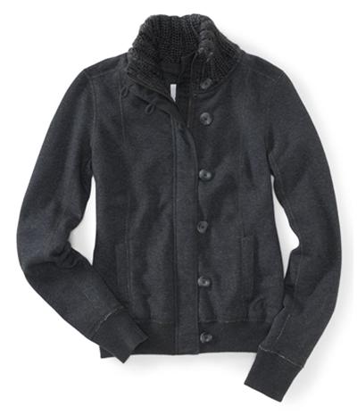 Aeropostale Womens Zip/ Knit Sweater