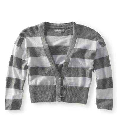 Aeropostale Womens Cropped Stripe Cardigan Sweater